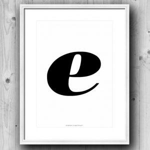 Aakkosjuliste E