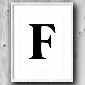 Aakkosjuliste F
