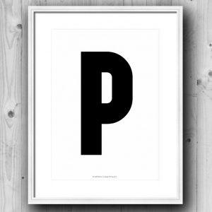 Aakkosjuliste P