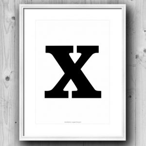 Aakkosjuliste X