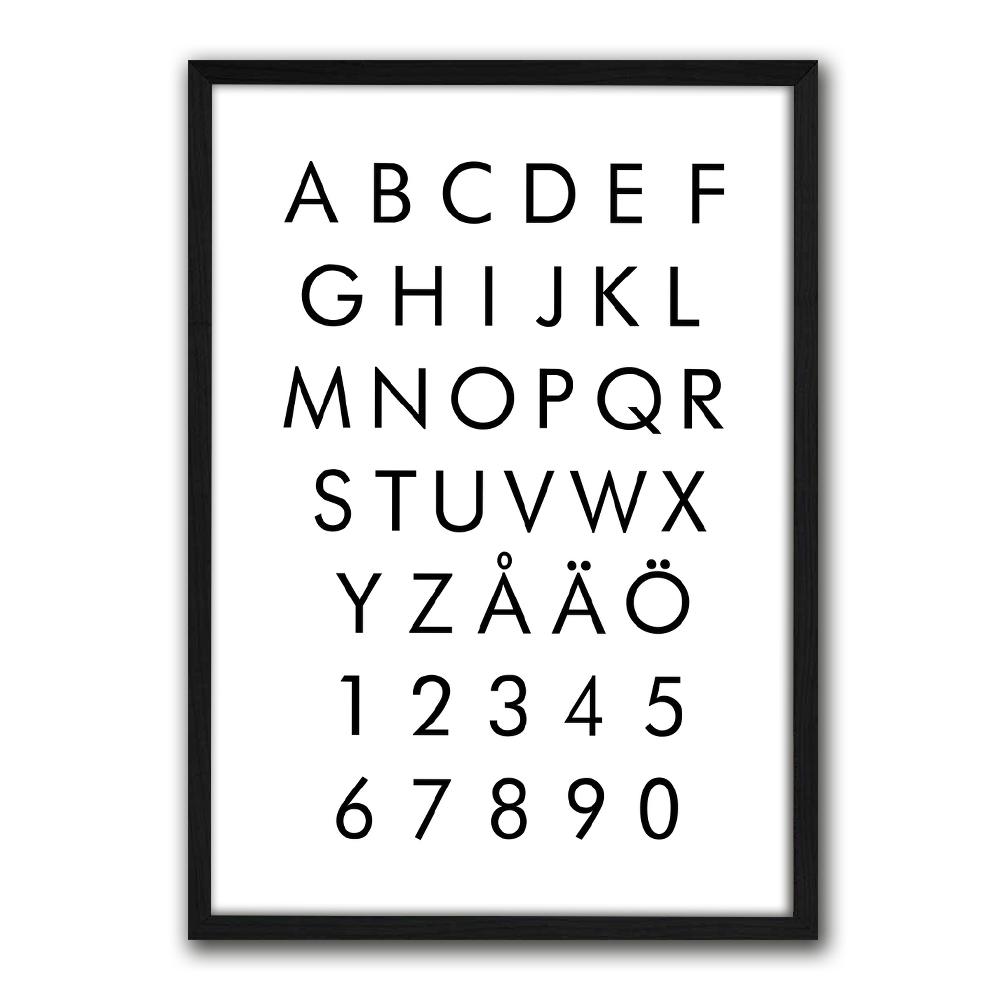 Juliste-kirjaimet ja merkit-aakkoset ja numerot-3