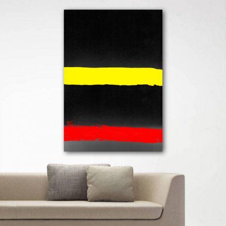 0-SISUSTUSTAULU-ABSTRAKTIT-PHOTOCOPY-RED-YELLOW-BLACK-75X100-1A