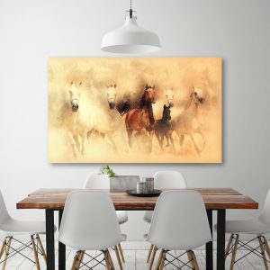 hevostaulut, sisustustaulu, canvastaulu, abstrakti