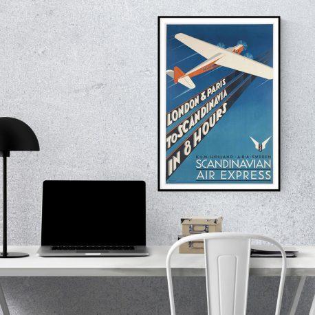 VINTAGEJULISTE-MATKAILU-SCANDINAVIAN-AIR-EXPRESS-42X67-1