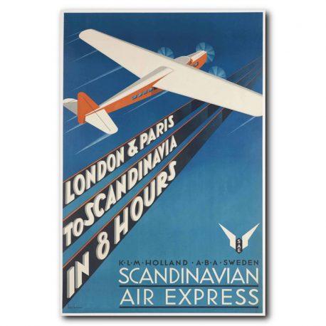 VINTAGEJULISTE-MATKAILU-SCANDINAVIAN-AIR-EXPRESS-42X67-1A