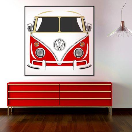 Poptaide Volkswagen Kleinbus punainen-2