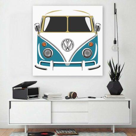 Poptaide Volkswagen Kleinbus sininen-2