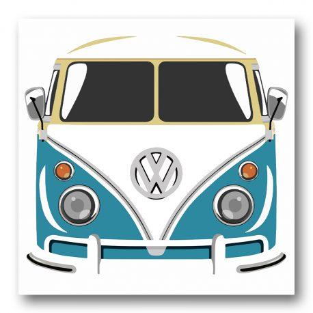 Poptaide Volkswagen Kleinbus sininen-5