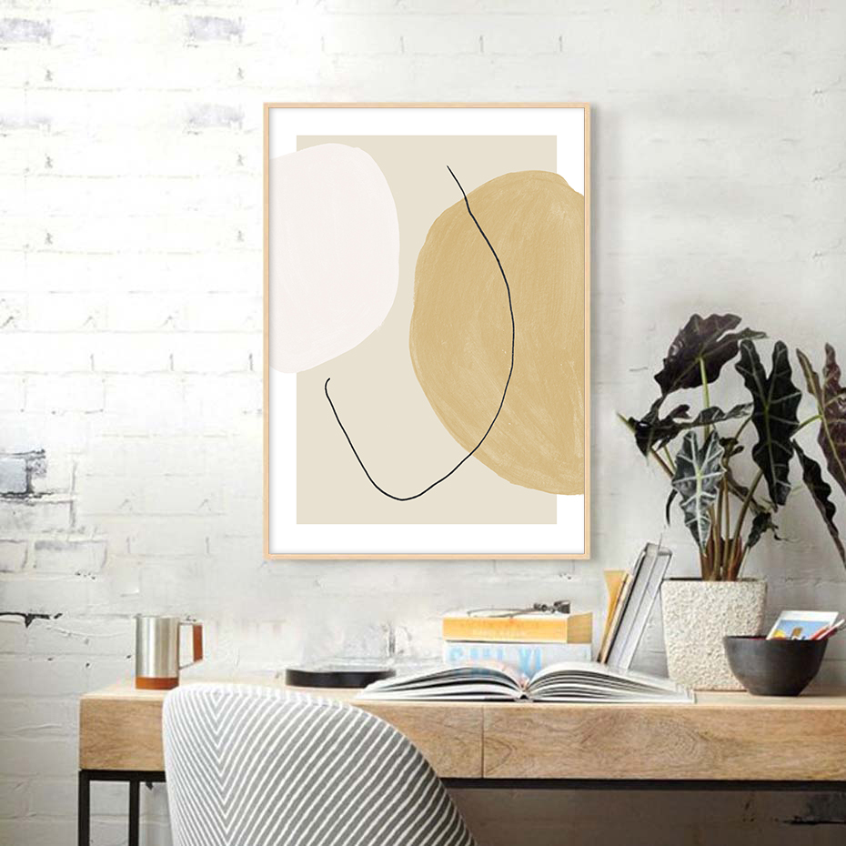 Juliste Abstract Shapes Composition 2-2
